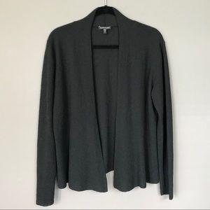 Like New Eileen Fisher 100% Wool Black Cardigan